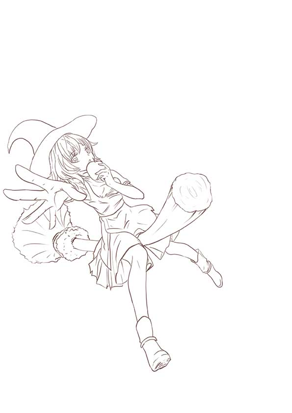 插畫-在中環的小女巫 草稿 2