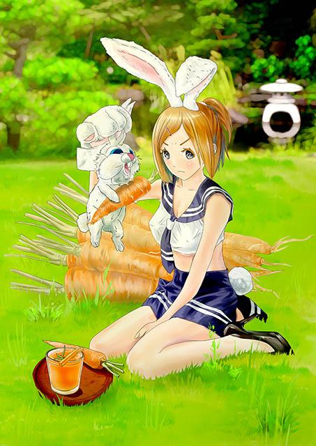 兔耳女孩 完成圖